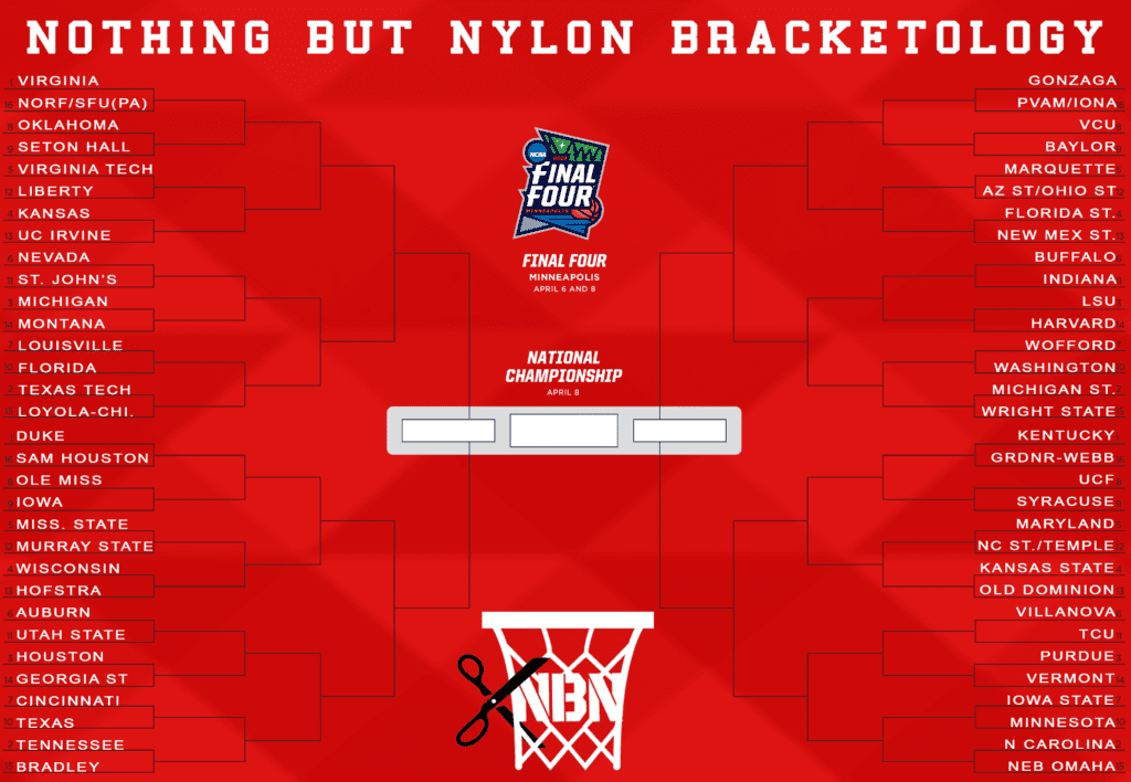 2019 nothing but nylon bracketology march madness