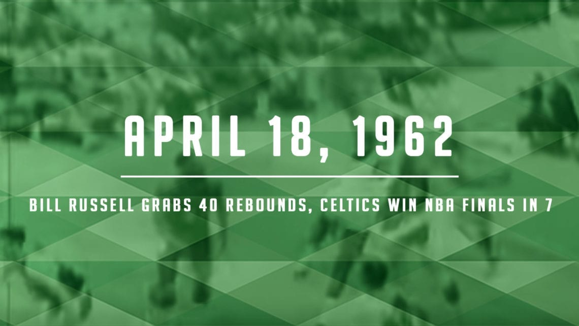 Bill Russell Grabs 40 Boards to Win Finals Over Lakers