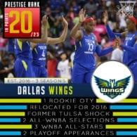 Dallas Wings - WNBA Prestige Rank 2019