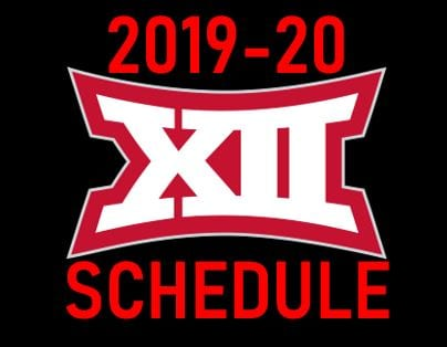 The Big 12 released its women's basketball conference schedule for the 2019-20 season.