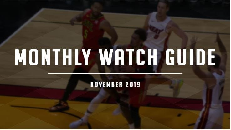 It's November, and that means the return of ridiculous amounts of basketball airing on television and streaming online. Enjoy.