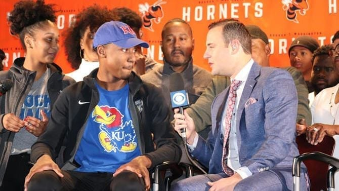 Kansas basketball gained an important commitment from five-star guard Bryce Thompson on Tuesday, with the No. 19 becoming the team's biggest 2020 get yet.