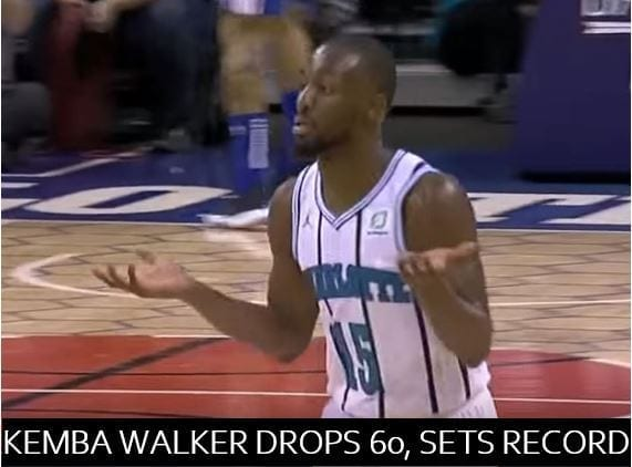 One year ago today, Kemba Walker scored 60 points against the Phialdelphia 76ers, setting a franchise record in the overtime defeat.
