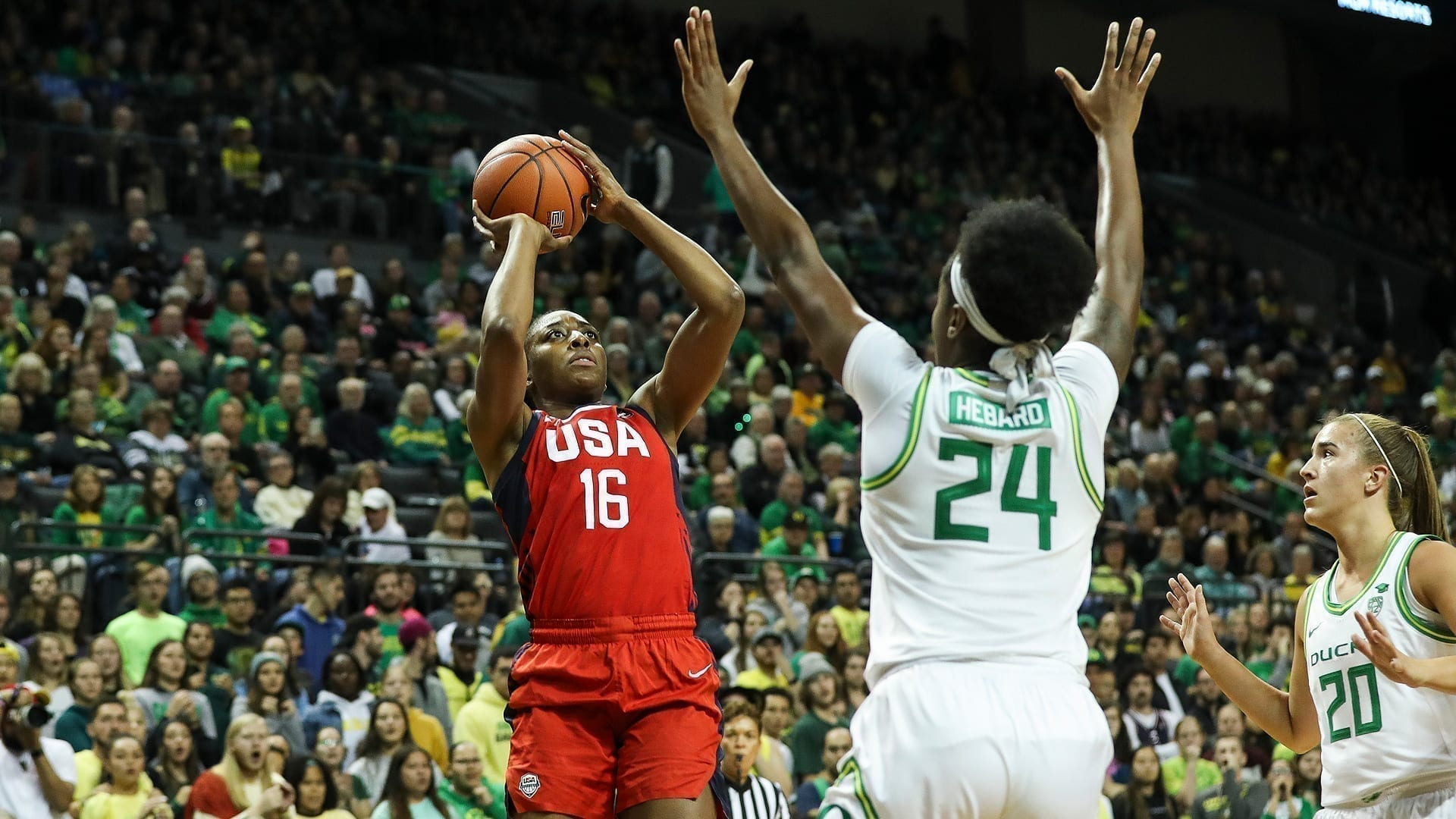 The USA Women's National Team fell to the Oregon Ducks, 93-86, on Saturday in an exhibition to help the team prepare for the 2020 Olympics in Tokyo.