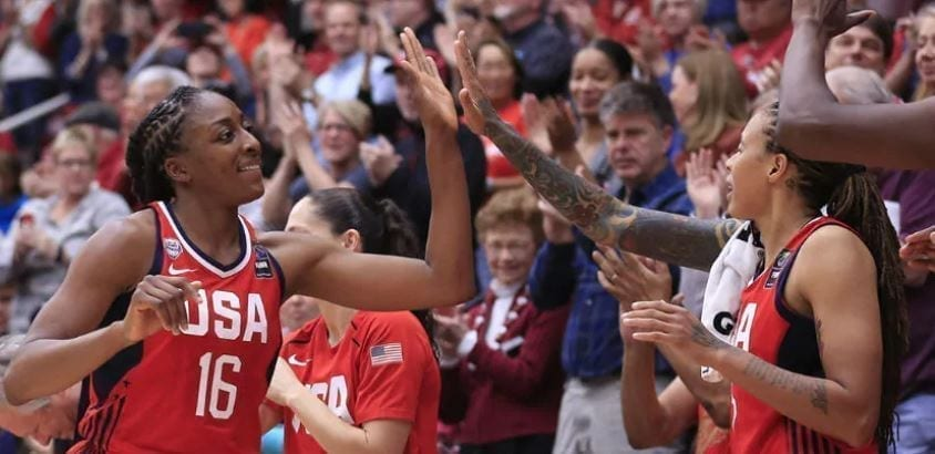 The USA women's national team faced Stanford in an exhibition game ahead of the 2020 Tokyo Olympics, winning the tune up, 95-80.