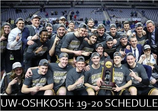 The defending men's Division III national champions UW-Oshkosh Titans will have to navigate a brutal 2019-20 regular season schedule.