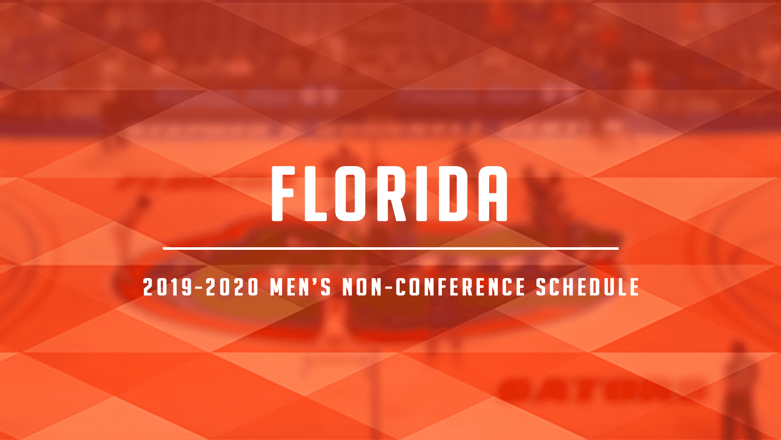 Florida has a very difficult non-conference slate, which includes Connecticut, Utah State, Florida State, Baylor, Providence, Butler and more.