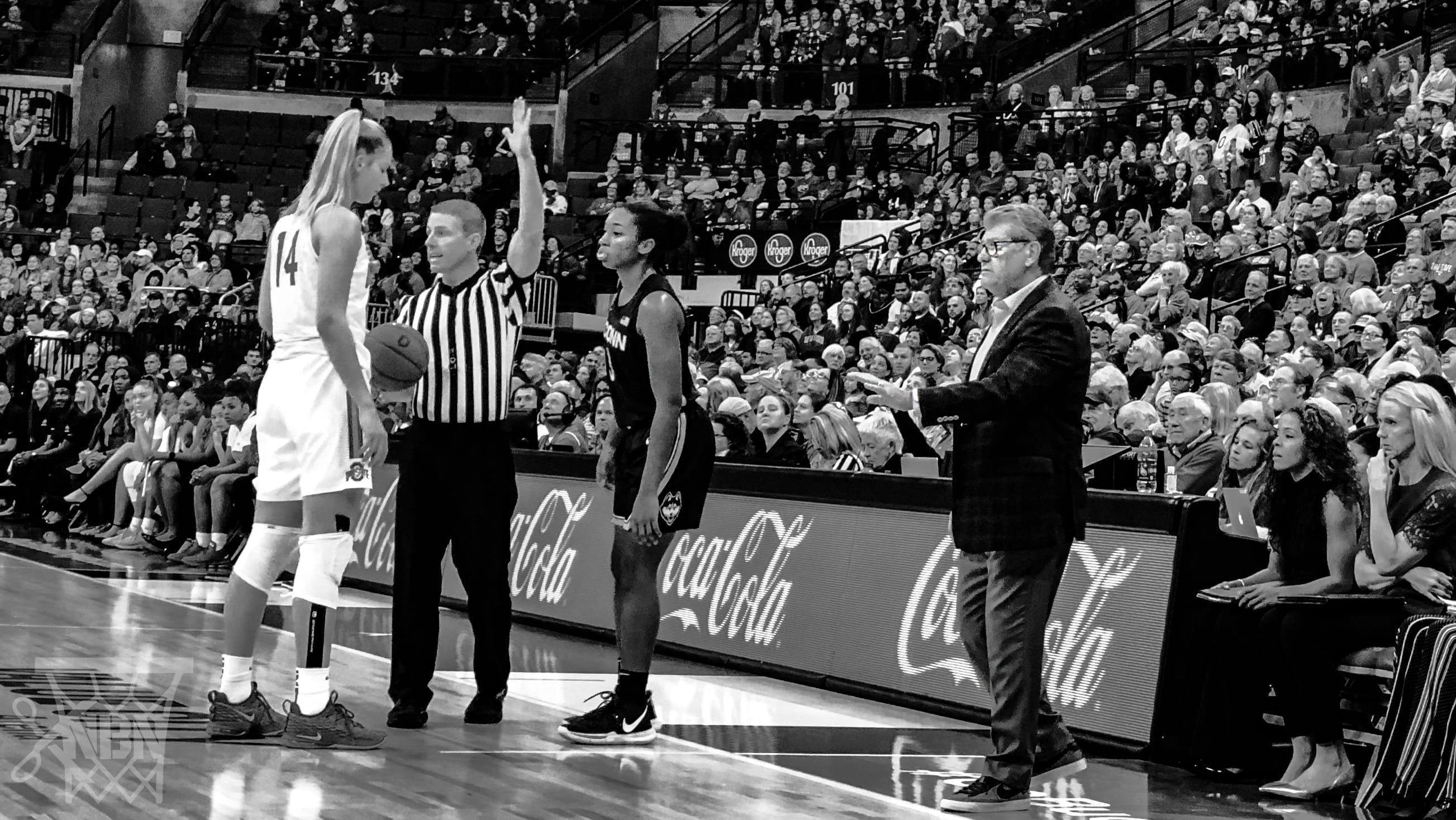 UConn Women's Basketball 2019-2020 Ohio State Geno Auriemma Mark Donahue Dorka Juhasz