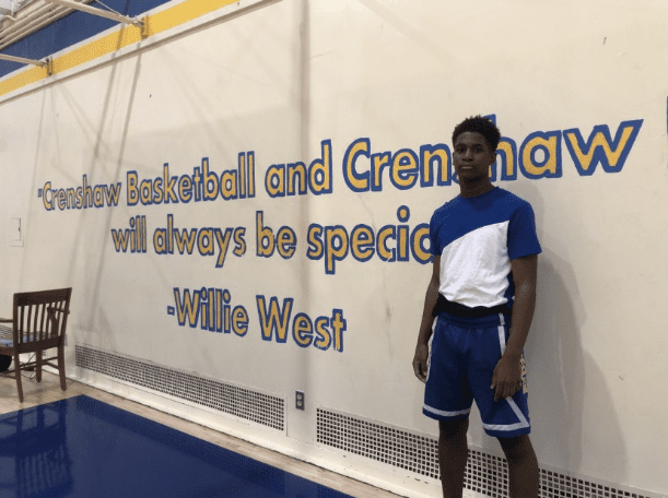 KJ Bradley, the son of Kevin Bradley, has been huge for Crenshaw High School's basketball program and bringing pride back to hoops in the area.