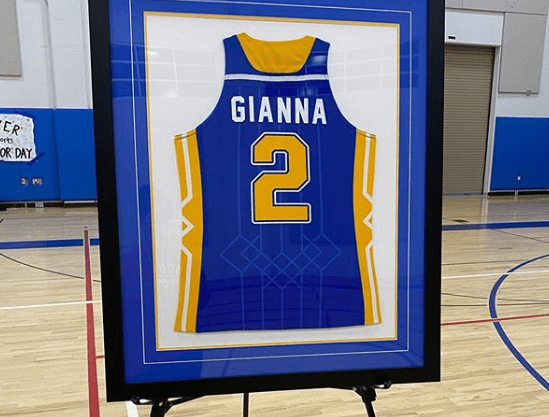 Number 2 was retired at Harbor Day School in California to honor the late Gianna Bryant, who passed away in a helicopter crash with her father, Kobe.