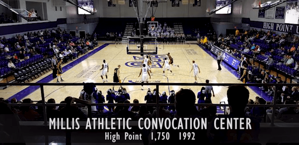 This hour-long video showcases every arena in NCAA Division I college basketball, ordered by capacity for the 2019-20 season from smallest to largest.