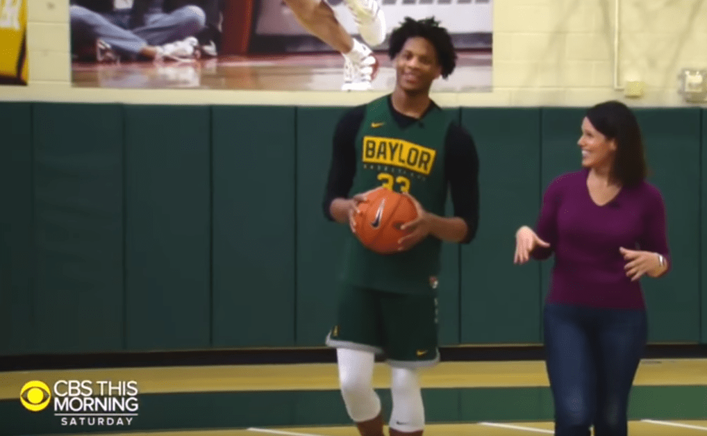 Freddie Gillespie spoke with CBS News correspondent Dana Jacobson about Baylor's record-setting season being cancelled before March Madness could begin.