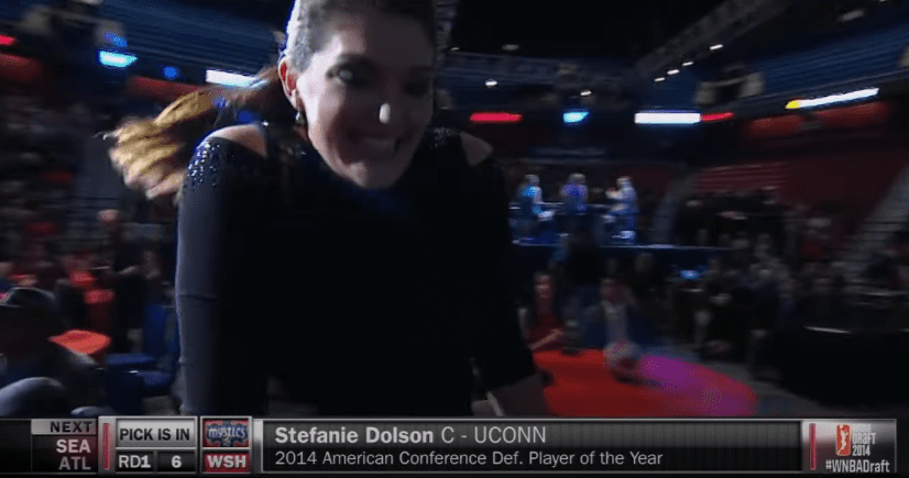 Stefanie Dolson is a two-time NCAA champion and six-year WNBA vet who was selected No. 6 overall in the 2017 WNBA Draft. These are her career moments.