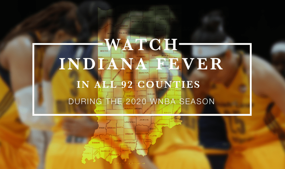 Streaming the Fever will be free in all 92 Indiana counties during the 2020 campaign, which the team hopes will promote it all across the state.