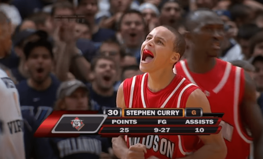 Steph Curry turned it on late at the 2008 Jimmy V Classic against West Virginia, but when he did, he took over the game. These are the highlights.