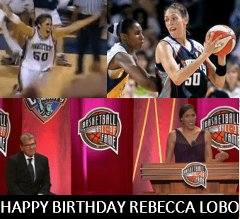 Basketball legend Rebecca Lobo turns 47 today. We looked back at her illustrious basketball and broadcasting careers to celebrate.