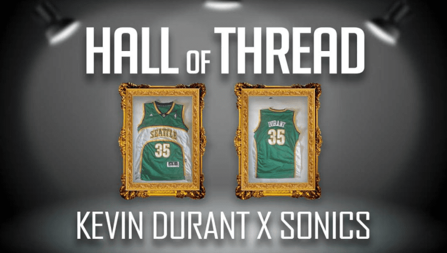 Kevin Durant spent only one year in Seattle before the SuperSonics moved to Oklahoma City. Logan Meyer owns a jersey from his short time in the Northwest.