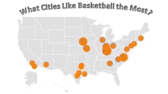 America is the country for basketball in the world, but what cities like basketball the most? Using Google Trends, we put together the rankings.