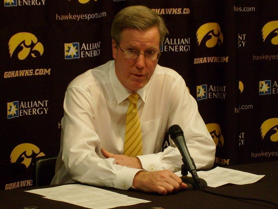 Iowa men's basketball head coach Fran McCaffery explained to Raymond Tortuga why defense is boring before transforming into something not quite human.