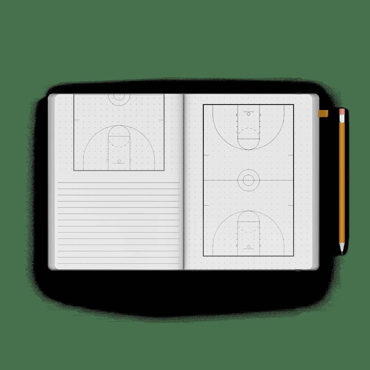 Basketball notebook journal playbook