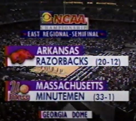 When was the last time Arkansas made the Sweet 16? It had been since 1996 - 25 years - since the Razorbacks were into the second weekend, until now.