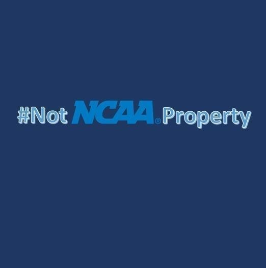 A day before the Men's NCAA Tournament begins, a number of athletes have taken to social media to declare that they are not NCAA property.